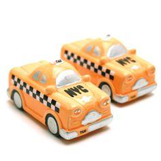 New York Taxi Salt and Pepper Shaker ENWF by NYweddingfavors