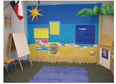 Great meeting area for beach theme classroom