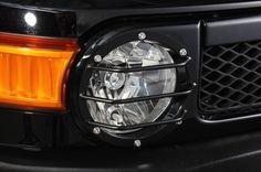 KADDIS headlight guard FJ Cruiser - Purchase now to accumulate reedemable points! 2015 Fj Cruiser, Toyota Fj Cruiser, Fj Cruiser Accessories, Offroad Accessories, Fj Cruiser Parts, Land Cruiser, Car Cooler, Black Jeep, Global Market
