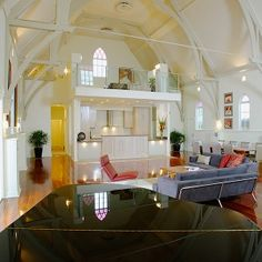This is a home made out of a church! So cool.
