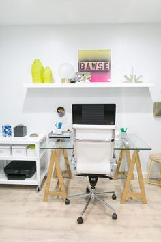 Everything a boss lady needs in her office! Customize your space to your tastes, and the needs of your business!