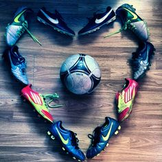 Soccer is love. This would be cute to use all Colton's old cleats Girls Soccer, Play Soccer, Soccer Stuff, Soccer Sports, Soccer Cleats, Soccer Players, Soccer Headbands, Mexico Soccer, Soccer Photography