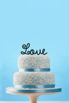Monogram Love Wedding Cake TopperRustic Wedding by designsgift