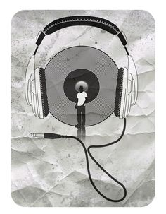 vinyl afro Art Print by Vin Zzep