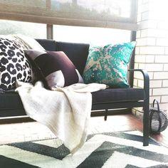 Afternoon delight! #cushions #chevron #outdoors #interior #exterior #homewares #homedecor #crosses #leopard #watercolour #blackandwhite #aqua #metallic #copper #charcoal #pewter #australian #designs #gabeandnix