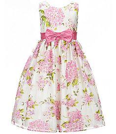 Jayne Copeland Big Girls 712 FloralPrint Bow Dress #Dillards