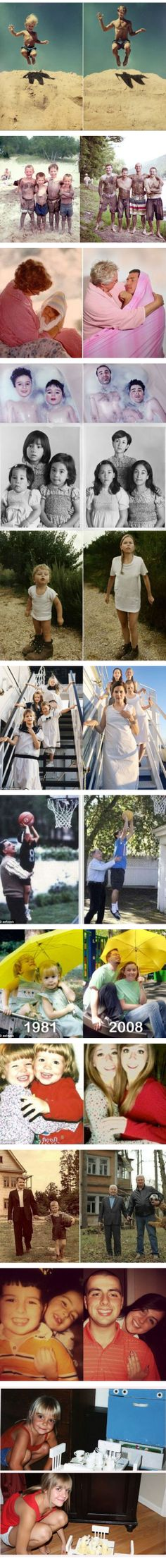 Recreating Childhood Photos....might have to do this.
