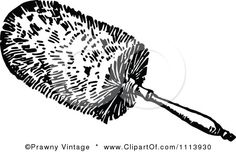 Duster Clipart Black And White