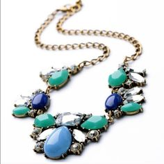New | Water Drop Raisin Necklace Stunning raisin necklace. Water drop shape gems. Gorgeous blue color. High end quality. Please DO NOT BUY this listing. Please ask for a separate listing.   ✅ Price firm unless bundled ✅ 15% off bundles  No Paypal  No Trades Jewelry Necklaces