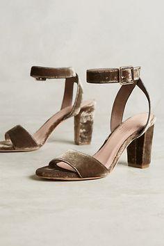 Charlotte Stone Samia Velvet Heels #anthropologie