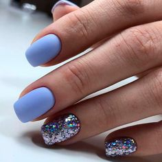On average, the finger nails grow from 3 to millimeters per month. If it is difficult to change their growth rate, however, it is possible to cheat on their appearance and length through false nails. Winter Nail Designs, Colorful Nail Designs, Nail Art Designs, Colorful Nails, Nails Design, Stylish Nails, Trendy Nails, Diy Nails, Cute Nails