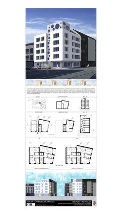 Studentský projekt. LS 2013/2014. FSv ČVUT v Praze. Praha, Architectural Sketches, Floor Plans, Architecture, House, Presentation Board Design, Arquitetura, Home, Architecture Drawings
