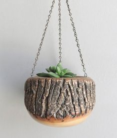 Hanging Wooden Planter