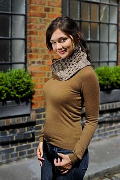 Ravelry: Cabled Cowl pattern by Pauline Fitzpatrick.  Photo courtesy of Inside Crochet magazine