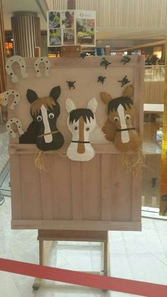 Old Mac Farm craft idea for children - craft templates and worksheets for preschool children, .Old Mac Farm craft idea for children - craft templates and worksheets for preschool, toddler and kindergarten from ophelia Tucked Horse Crafts Kids, Farm Animal Crafts, Farm Animals, Crafts For Kids, Children Crafts, Wild West Theme, Farm Activities, Western Theme, Cowboy Theme