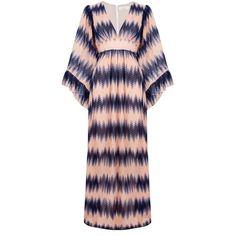 Ukulele - Ivy Dress (13.200 RUB) ❤ liked on Polyvore featuring dresses, maxi dresses, transparent dress, v-neck dresses, empire dress and zipper dress