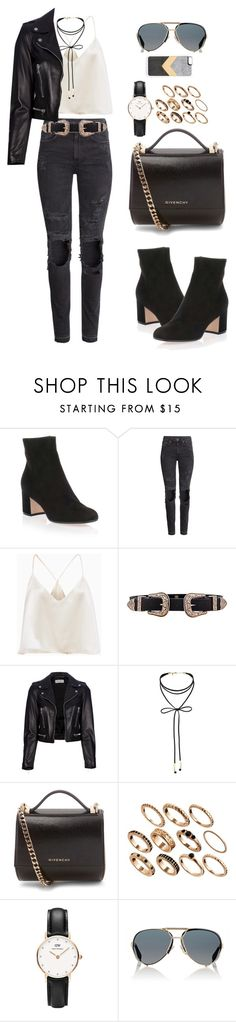 """""""Untitled #65"""" by manerefortis ❤ liked on Polyvore featuring Gianvito Rossi, H&M, B-Low the Belt, Yves Saint Laurent, Miss Selfridge, Givenchy, ASOS, Daniel Wellington, Zero Gravity and rockerchic"""