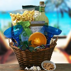 Life is a beach gift basket lifes a beach with this tote filled margarita time margarita gift basket solutioingenieria Image collections