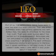 #Leo: Out of all the visionary signs, Leos appear to have a ton of fun when contending. They are frequently astounded when they outrage somebody and once in a while feel the need to apologize to the ones they hurt. They likewise abstain from discussing the matter out of shame. Expressions of remorse are not appropriate to Leos, whether they're the ones tolerating it or giving it. The best way to deal with determining clashes with #Leos is to imagine that it never happened in any case.