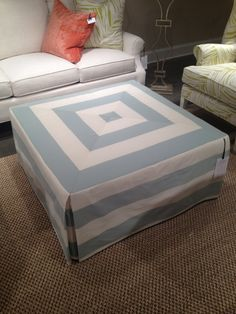 How to make a slipcover for an ottoman {The Creativity Exchange}