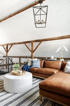What to Know When Choosing Upholstery Design Blog, E Design, Rustic Design, Estudio Mcgee, Cottage, Leather Sectional, Furniture Upholstery, Furniture Layout, Home Renovation