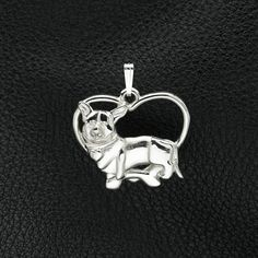 Sterling Silver Cardigan Welsh Corgi Pendant w/ Chain. 25% off through May 10th.  Apply Coupon MOTHERSDAYOFF25 at register