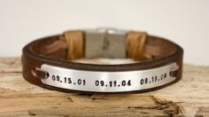Men Bracelet Personalized Leather Bracelet Genuine by PukkaMen