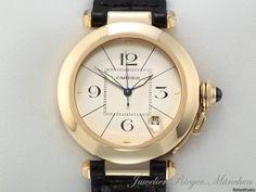 Cartier PASHA 38 mm GELBGOLD 750 AUTOMATIK GOLD LEDER AUD$6,438 Yes Please.