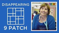 Disappearing 4 Patch Quilt Block Tutorial - YouTube Use 3 colors, put favourites on corners