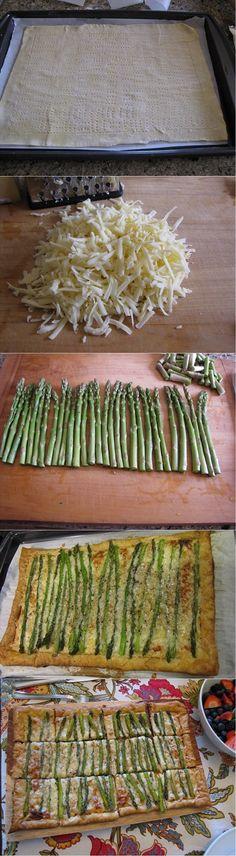 Asparagus & Gruyere Tart