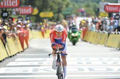15/07/2016 - Etape 13 - Bourg-Saint-Andéol/ La Caverne du Pont-d'Arc (37,5 km CLM) - Tom DUMOULIN (TEAM GIANT-ALPECIN), champion des Pays-Bas du contre-la-montre et vainqueur d'étape à l'arrivée