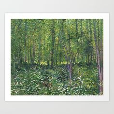 Buy Vincent Van Gogh Trees and Undergrowth Art Print by fineearthprints. Worldwide shipping available at Society6.com. Just one of millions of high quality products available.