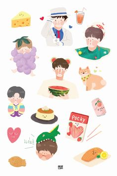 Cute Wallpaper Backgrounds, Cute Wallpapers, Cartoon Wallpaper, Journal Stickers, Scrapbook Stickers, Nct, Printable Stickers, Cute Stickers, Kawaii Drawings