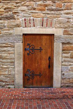 Granary door - New Harmony, Indiana