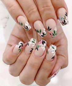 May 2020 - spring nails, spring nail trends, spring nail art , spring nail ideas mismatched nail colors Cute Acrylic Nails, Cute Nails, Pretty Nails, My Nails, Dark Nails, Spring Nail Trends, Spring Nail Art, Cute Spring Nails, Nail Art Designs