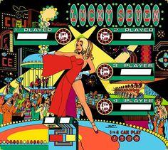 Internet Pinball Machine Database: Williams 'Lucky Seven' Images Video Game Machines, Pinball Wizard, Vintage Illustration Art, Retro Arcade, Vintage Games, Retro Art, Arcade Games, Game Art, Pool Tables