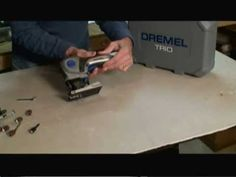 Check out the new Dremel Trio tool. This is a cool tool that is ideal for cutting, routing and sanding smaller DIY home related projects. It's perfect for many arts and crafts projects that require cutting, sanding, or routing wood.