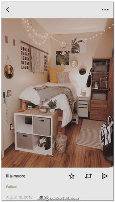 New Best aesthetic room decor images in 2020 Part 28 ; bedroom ideas for small rooms; bedroom ideas for small rooms; bedroom ideas for couples; College Apartment Decor, Bedroom Decor, Small Room Bedroom, Cool Dorm Rooms, Small Apartment Bedrooms, Bedroom Design, Dorm Room Decor, Home Decor, Trendy Bedroom