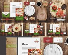 free restaurant menu mock up psd - Google Search