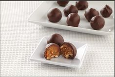 Our Ghirardelli Peanut Butter Pretzel Bonbons are smooth on the outside and crunchy, chewy amazingness on the inside.