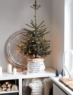 neutral christmas decor tabletop tree simple holiday decor
