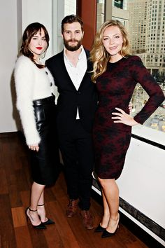 Jamie Dornan, Dakota Johnson and Eloise Mumford