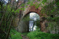 Roslin Castle entrance near to Rosslyn Chapel, Roslin, Midlothian, Scotland