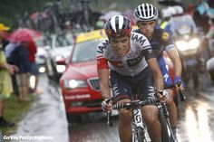 Morzine - France  - wielrennen - cycling - radsport - cyclisme -  Jarlinson Pantano (COL-IAM Cycling) - Julian Alaphilippe (FRA-Etixx-QuickStep)  pictured during stage 20 of the 2016 Tour de France from Megeve to Morzine, 146.00 km - photo Dion Kerkhoffs/Davy Rietbergen/Cor Vos © 2016