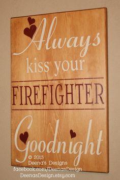 Firefighter Wall Art firefighter sign, firefighter sign, custom wood sign, firefighter