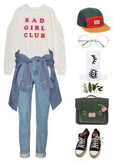 """Untitled #3316"" by lbenigni ❤ liked on Polyvore featuring River Island, Converse and Dr. Martens"