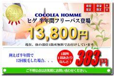 メンズ脱毛・ヒゲ脱毛専門店COCOLEA HOMME(ココレアオム)では、ヒゲ半年間フリーパスを期間限定で販売しております。 数量限定となっておりますので、姫路でヒゲにお悩みの男性は、お早めの購入をオススメします。 全国的にも最も安い価格帯となっておりますので、この機会をお見逃しなく!