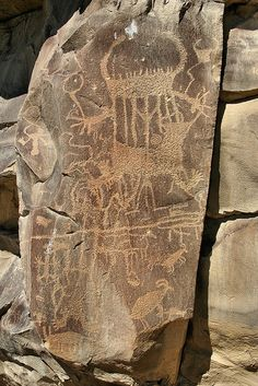 The petroglyphs are in Legend Rock State Petroglyph Site, Wyoming, USA.
