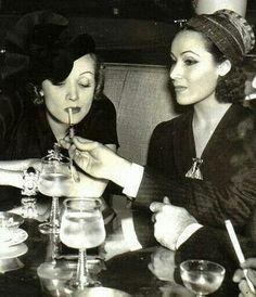 Delores del Rio  Marlene Dietrich