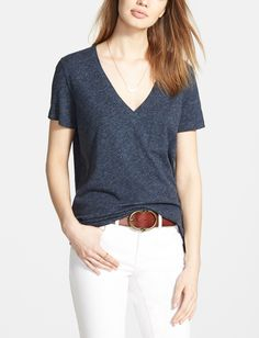 This comfy, everyday tee would be cute alone or layered. Basic essentials are always great additions to the wardrobe.
